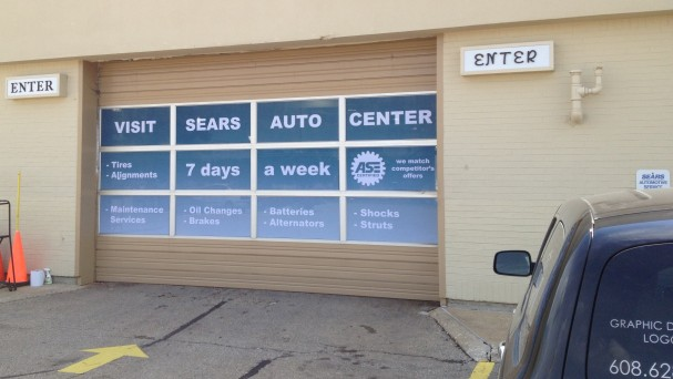 Sears Auto Center Window Graphics by AW Artworks
