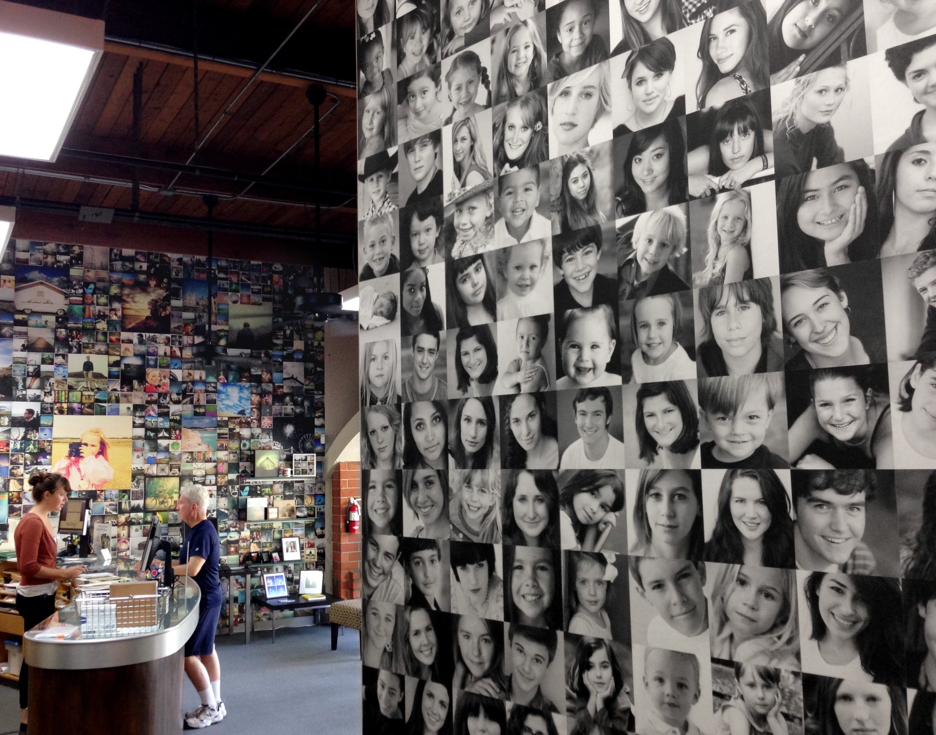 Color services inspires with a unique photo collage wall for Mural collage