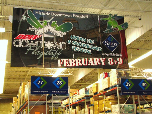 Large Inkjet Printed Store Banner