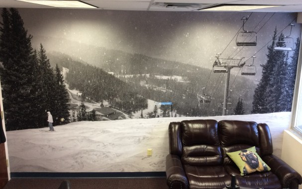 Vail Mountain Wall Mural on LexJet Print-N-Stick Fabric