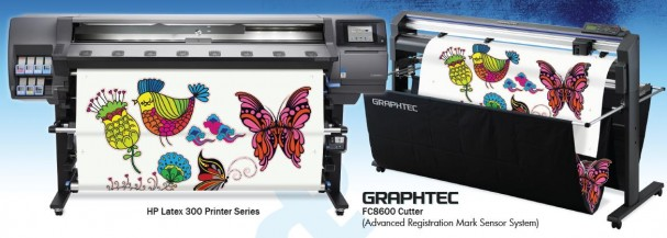 HP Latex Printer and Graphtec Cutter