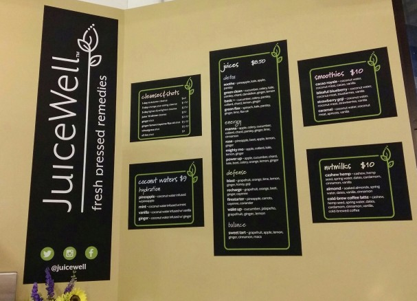 Menus Printed on Print-N-Stick