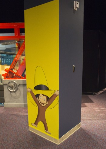 OSC Curious George Exhibit Column