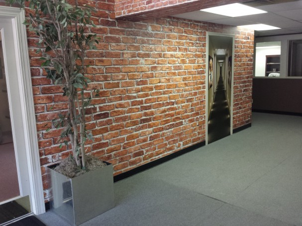 Faux Inkjet Printed Bricks Wall Mural