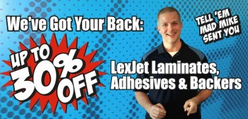 Laminates, Adhesives, Backers Sale at LexJet