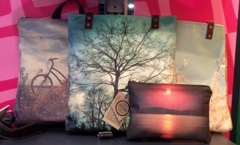 Tote bags with Avatrex prints.