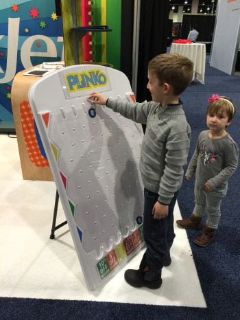 Taking a try at the LexJet Plinko board!