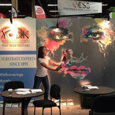The International Sign Association (ISA) Sign Expo took place last weekend in Las Vegas, and LexJet partnered with York Wallcoverings to man a booth showing off the latest inkjet-printable wallcovering offerings.