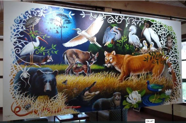 A Mural Project for the Birds … and the Bears and the Gators, Too
