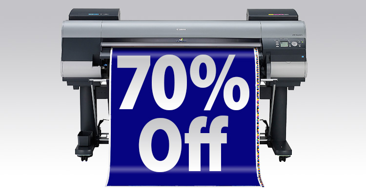 70% Off Canon iPF8400S and More December Printer Rebates