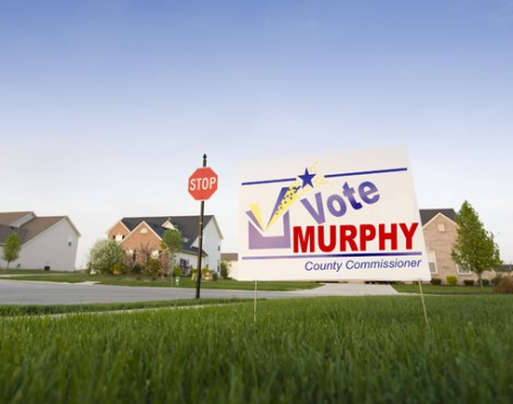 Yard Signs Are Quick & Effective to Drive Traffic and Get the Vote Out