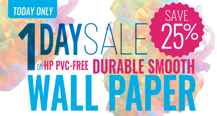 Monday Only: Take 25% Off HP PVC-free Durable Smooth Wall Paper