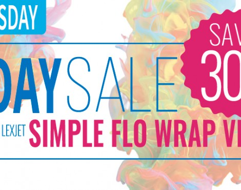 Tuesday Only: 30% Off LexJet Simple Flo Wrap Vinyl