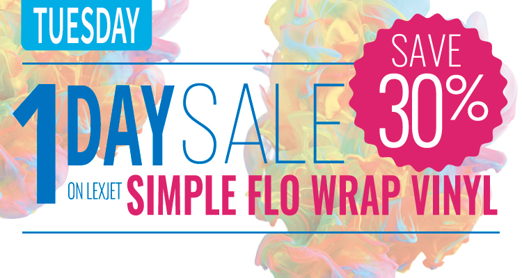 Tuesday Only: 30% Off LexJet Simple Flo Wrap Vinyl