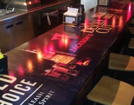 It's No Ordinary Table at Jamie Birch FX Designs; It's a Graphic Creation