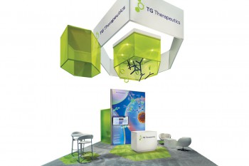TG Therapeutics Inc.'s 2015 display designed by Access TCA Inc., won Best Fabric Exhibit.