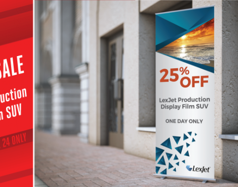 Wednesday Only: 25% Off LexJet Production Display Film SUV