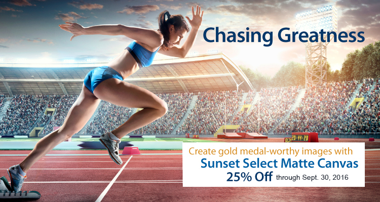 Save Like a Winner on Sunset Select Matte Canvas