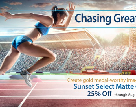 Save Like a Winner on Sunset Select Matte Canvas