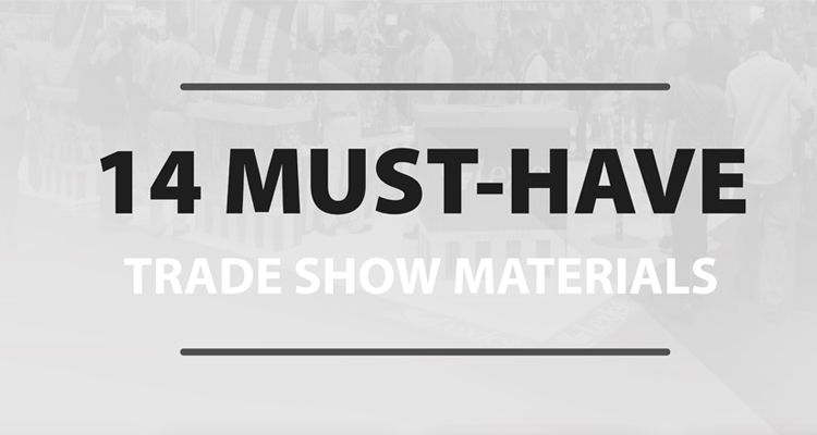 Downloadable Chart: Be Ready for Your Next Trade Show Job