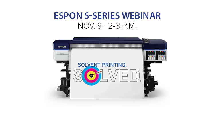 Join Us Nov. 9: Epson Webinar Featuring S-Series Printers
