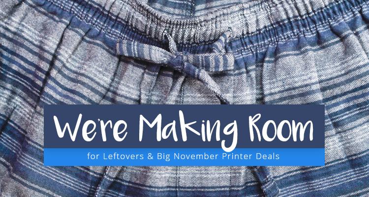 Stuff Yourself with Big November Savings on Printers & Media