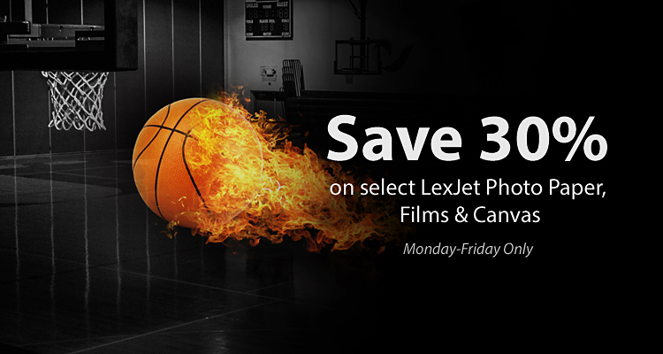 Buzzer Beater Savings: 30% Off Select LexJet Media