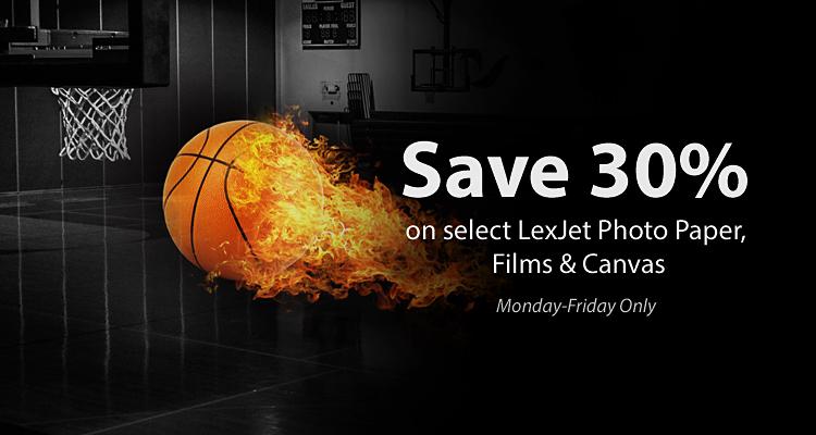 Buzzer Beater Savings: 30% Off Select LexJet Media