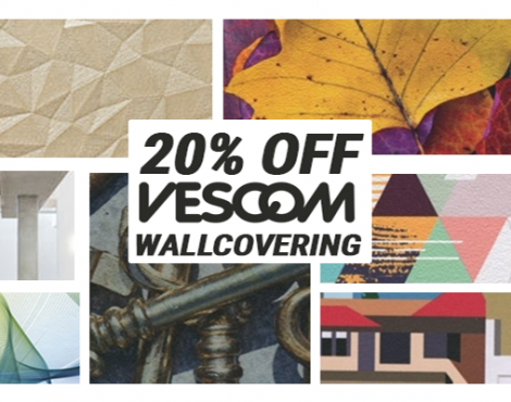 Dec. 1-31: Save 20% on Your First Vescom Wallcovering Order