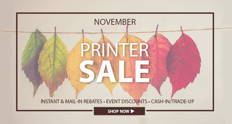 Turkeys, Pie and Printer Promotions: The Holidays Have Arrived