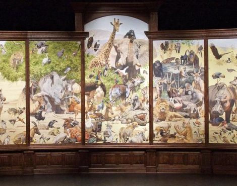 Printer Challenge: Reproduce the 30-foot Painting, African Menagerie