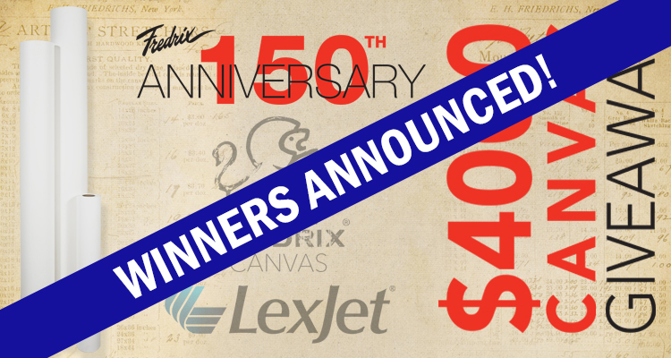 #Fredrix150Canvas Winners Announced!