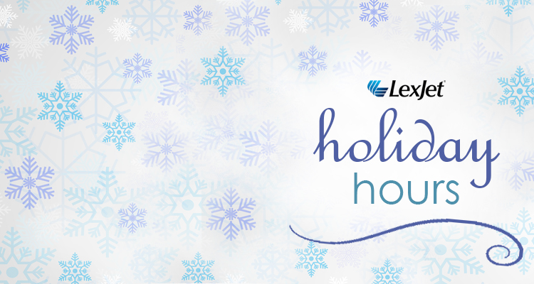 LexJet's 2018 Holiday Hours