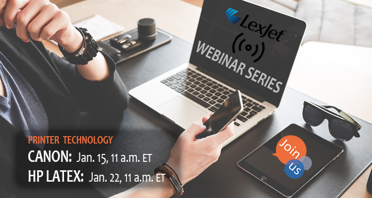 January Webinars with Canon and HP