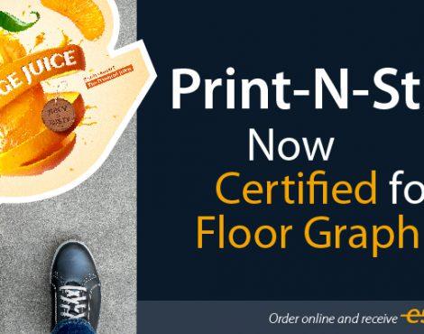 LexJet Print-N-Stick Certified for Floor Graphics