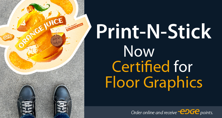 LexJet Print-N-Stick Certified for Floor Graphics