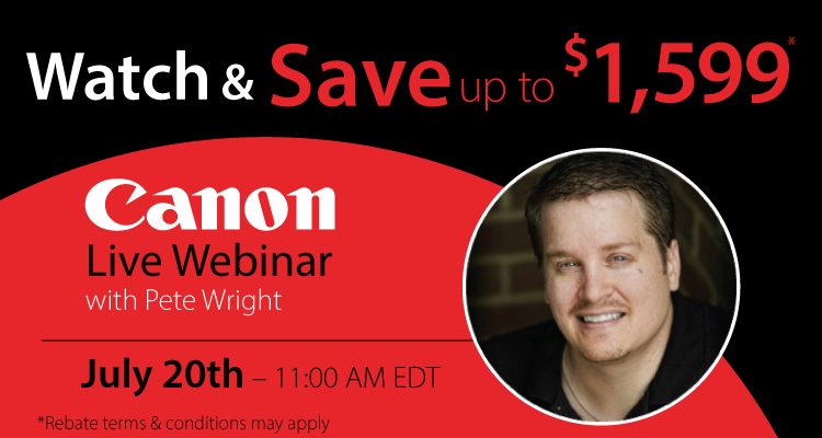 Learn How to Improve your Output at the Live Canon Webinar