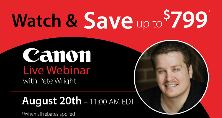 Free Webinar: See Why Photographers Choose Canon