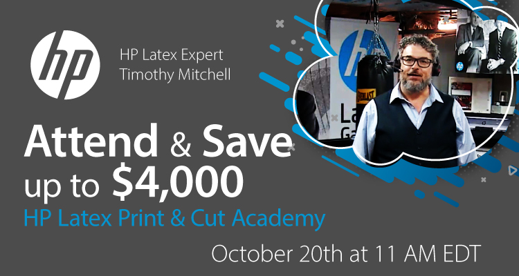 Timothy Mitchell Shows You How to Get the Most Out of the HP Latex Print & Cut Solution