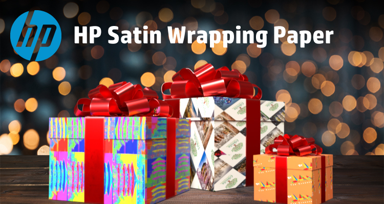 The Frame Room is Gifting Back Using HP Satin Wrapping Paper