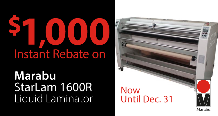 Instant Savings on the Marabu StarLam 1600R Liquid Laminator