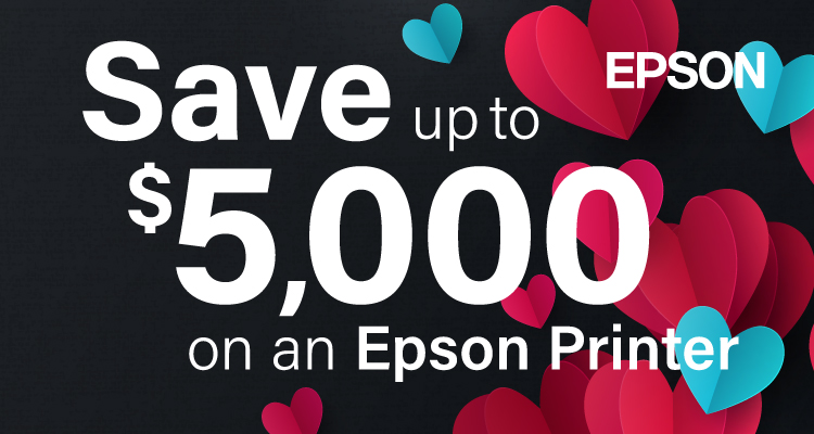 Fall in Love with a New Epson Printer This February