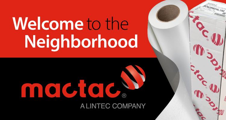 LexJet Welcomes Mactac to the Neighborhood