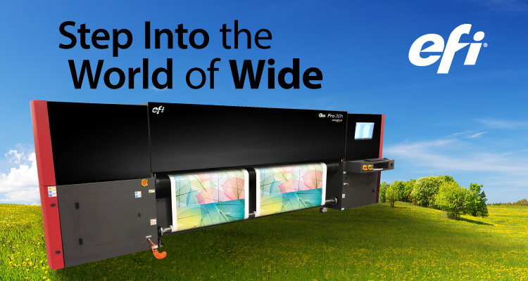 Now Available at LexJet: EFI Pro 30h Wide Format Hybrid Printer